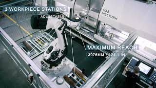 M65 MILLTURN - WFL automated workpiece loading and unloading by an articulated robot