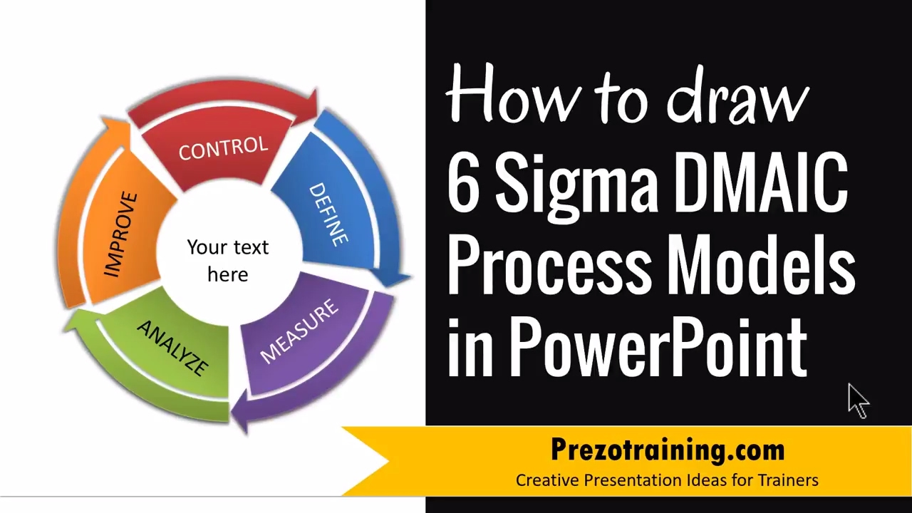 how to draw 6 sigma dmaic process models in powerpoint - youtube, Powerpoint templates