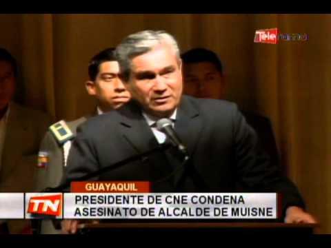 Presidente de CNE condena asesinato de alcalde de Muisne