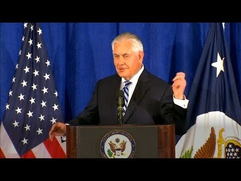 Rex Tillerson says 'no yelling' involved in Iran deal meeting