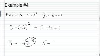 Evaluating Algebraic Expressions
