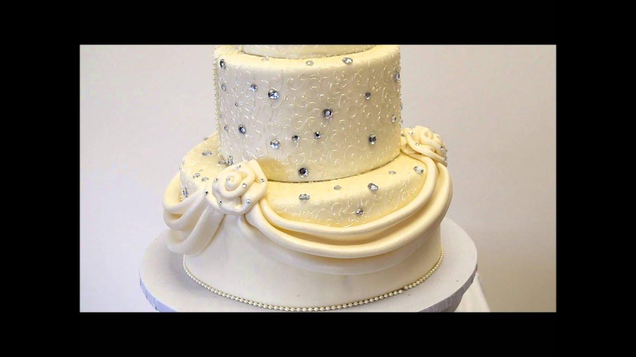 Wedding Cake with Diamonds - Cake With Diamonds - YouTube