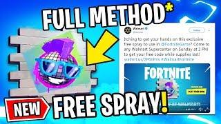 How To UNLOCK WALMART EPIC SPRAY FREE! *Full Method* (Fortnite Limited Rare Spray)