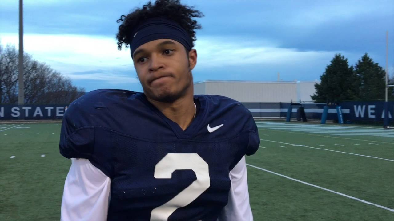 reputable site 4b358 f2d1f Marcus Allen - Penn State spring practice