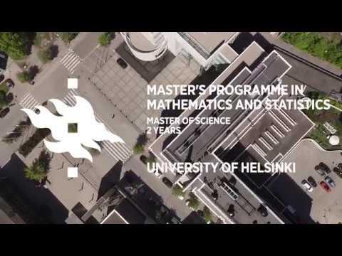 Master's Programme in Mathematics and Statistics