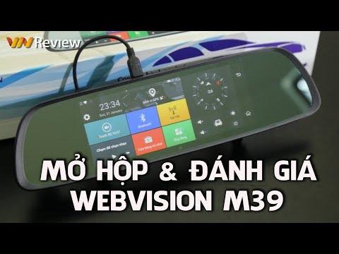 ✅VnReview - Mở hộp & Trải nghiệm Camera hành trình Webvision M39