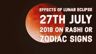EFFECTS OF LUNAR ECLIPSE ON RASHI OR ZODIAC SIGNS (27TH JULY 2018)