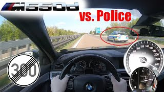 BMW M550d F10 N57 TOP SPEED ON NO LIMIT AUTOBAHN GERMANY