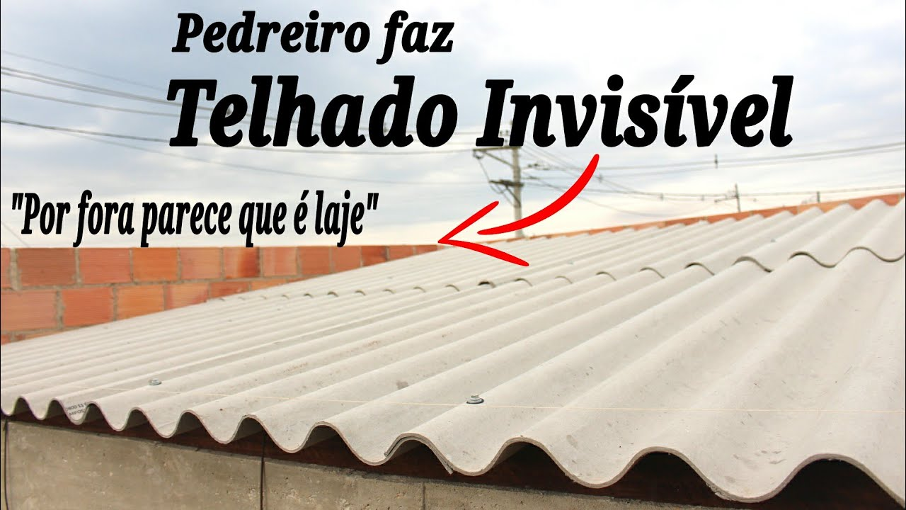 """Download Como FAZER UM TELHADO INVISÍVEL Passo a Passo """"telhado que por fora parece laje"""" TELHADO EMBUTIDO"""