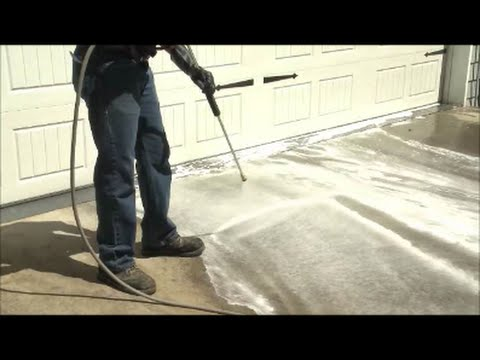 How To Pressure Wash Your Driveway: Zep Commercial Driveway U0026 Concrete  Concentrate   YouTube