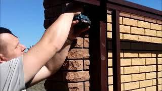 видео Откатные ворота из стали