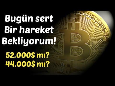 #Bitcoin Analiz – 44.000 dolar mi? 52.000 dolar mi? Bugun o hareket gelecek! Btc Teknik Analiz Forex