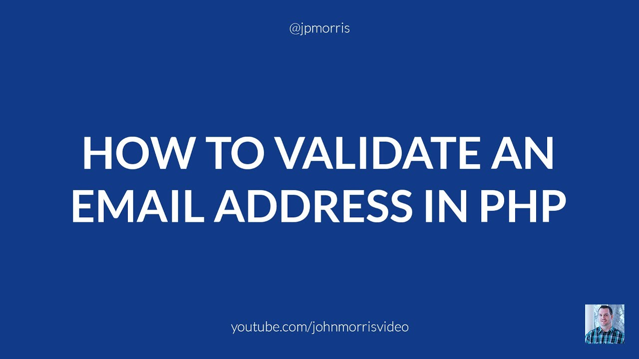 how to validate an email address by domain using php youtube - Verify Email Address Php