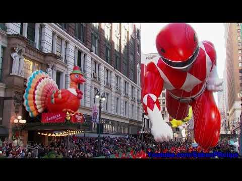 Thanksgiving Macy's Day Parade 2017 - Power Rangers Balloon P2 - Super Ninja Steel 2018 Promo