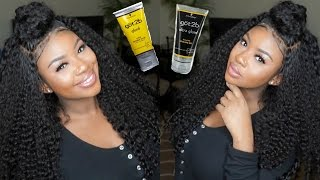 Baixar GOT2B GLUED Lace Frontal Wig Application | Feat. Aliexpress Virgo Curly Hair Review