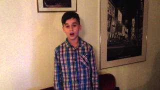 Armin Kasaev (8) singing, what does the fox say