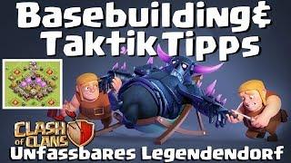 [478] Basebuilding & Taktik Tipps Rh 9 10 11   Unfassbares Legendendorf   Clash of Clans Deutsch COC