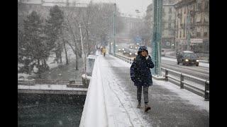 La neige s'invite enfin à Genève