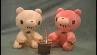 2 gloomy bear chocolate plush toys