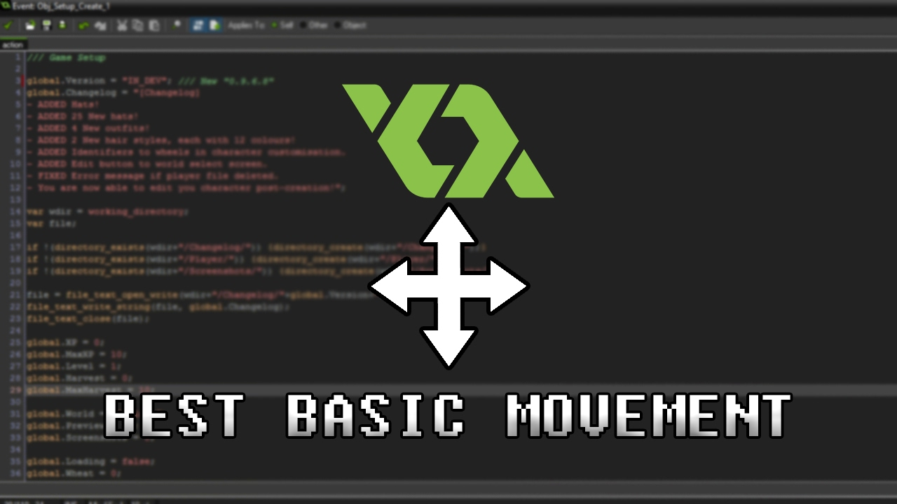 [GAMEMAKER] BEST BASIC MOVEMENT (With Collisions)