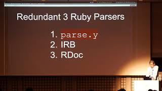 [EN] Ruby Parser In IRB 20th Anniversary...Now Let Time Resume / ITOYANAGI Sakura @aycabta thumbnail