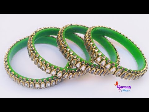 How To Make Beautiful Designer Bangles At Home | DIY | Bangles set | jewellery making | uppunutihome