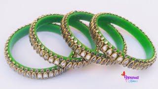 How To Make Beautiful Designer Bangles At Home | DIY | Bangles set | jewellery making | uppunutihome
