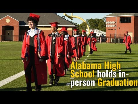 Alabama High School Holds In-person Graduation