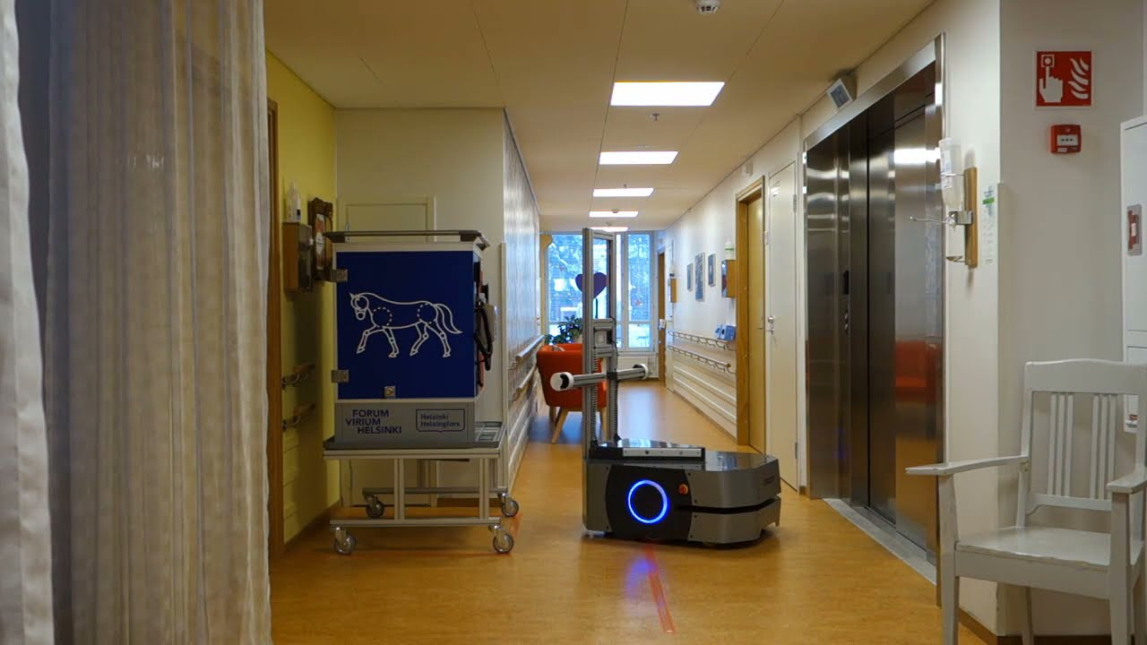 Mobile robot automates food distribution in a pilot at senior center