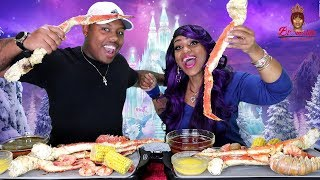 Seafood Boil Challenge Huge King Crab Legs, Lobster Tails, Tiger Shrimp