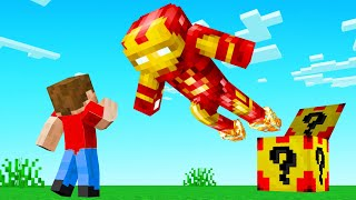 We Open IRON MAN LUCKY BLOCKS! (Minecraft)