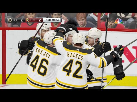 NHL 19 - Boston Bruins Vs Ottawa Senators Gameplay - NHL Season Match Oct 23, 2018