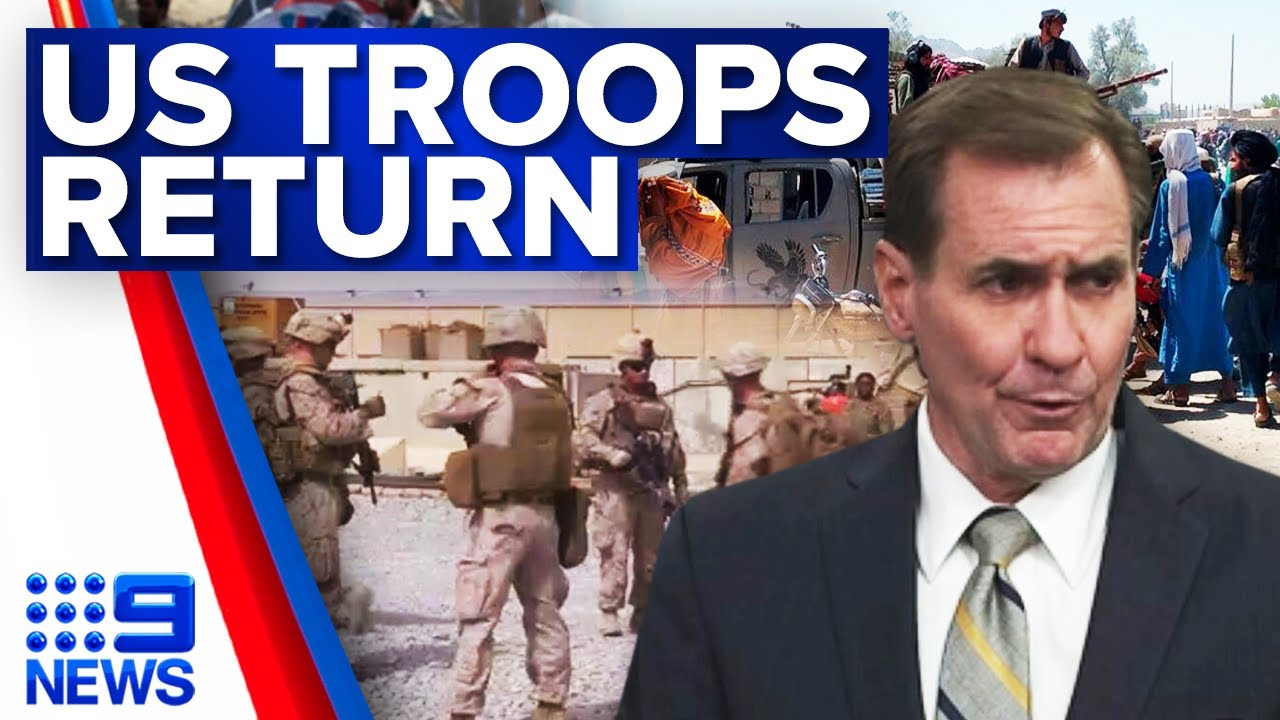 Download US troops deployed in Afghanistan for embassy evacuation   9 News Australia