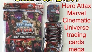 Topps Hero Attax marvel cinematic universe trading cards mega video