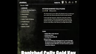 Elder Scrolls Online   Banished Cells Gold Key Cursed Hero Achievement