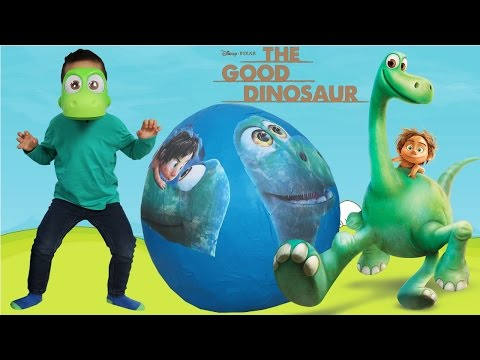 Disney The Good Dinosaur Super Giant Surprise Toys Egg Opening Fun With Ckn Toys