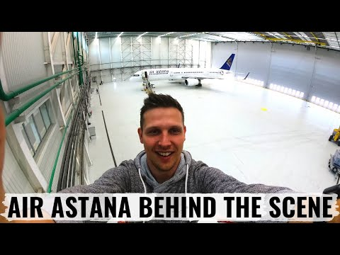 VLOG: Air Astana's NEW HANGAR and ALMATY Airport Tour