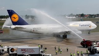 Top 10 Airlines - German World Champion Team arrives at home - Fanhansa Boeing 747-8i [D-ABYI]