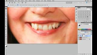 How to fix crooked teeth in Photoshop tutorial