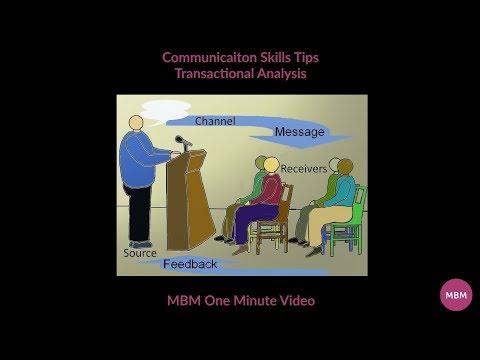 Communication Skills Tips | Transactional Analysis | MBM One Minute Video