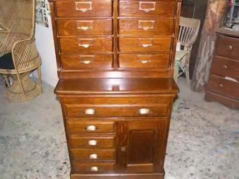 Restoration File Cabinet in Tiger Oak hand work finish , -Madadar- Naples FL