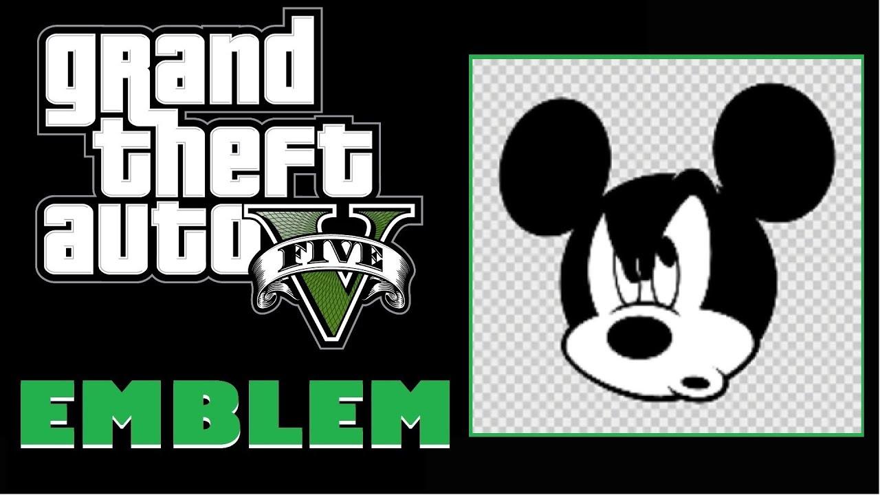 Grand Theft Auto 5 / GTA 5 / GTA V : Mickey Mouse Emblem Tutorial