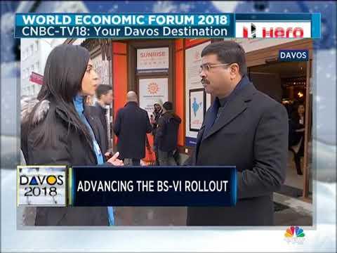 Dharmendra Pradhan At DAVOS 2018
