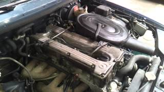 W123 280E M110 coldstart - its running super smooth - something must be wrong.