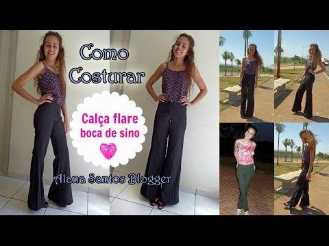 Como costurar calça flare boca de sino Alana Santos Blogger