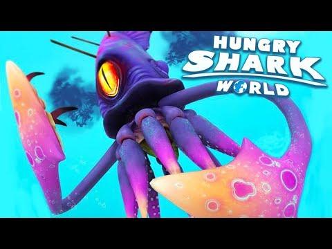 LULA GIGANTE BATALHA! - Hungry Shark World #54 (HSW) - COLOSSAL SQUID BOSS