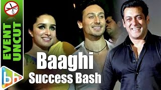 BAAGHI Success Bash | Tiger Shroff | Shraddha Kapoor | Salman Khan | Varun Dhawan | Event Uncut