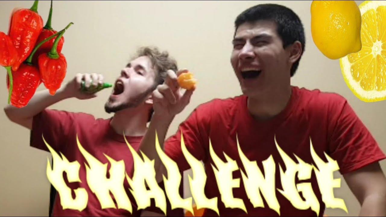 HOT Pepper Lemon Juice Challenge! /w Xylophoney ...