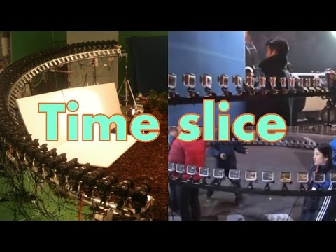 time slice 47 GoPro array with chroma key film lighting -  bullet time effect
