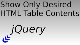 Filter Rows in an HTML Table with JQuery(Demonstration of how to make certain rows in a table appear and disappear based on their contents. Source code available at: ..., 2015-08-23T05:05:45.000Z)